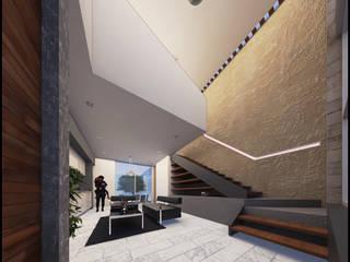 TH Salones modernos de Geometrica Arquitectura Moderno