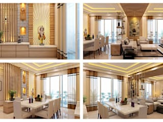 Residential Interiors_MR. RD SHARMA JI Modern living room by SPACE SHASTRA ARCHITECTS Modern
