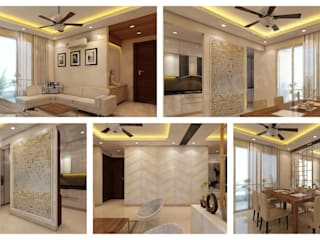 Residential Interiors_PURI PARAYANAM Modern living room by SPACE SHASTRA ARCHITECTS Modern