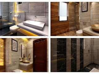 Residential Interiors_PURI PARAYANAM Modern bathroom by SPACE SHASTRA ARCHITECTS Modern