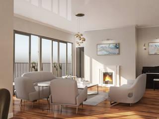 Tarabya Family House Eklektik Oturma Odası Diagon Designworks Eklektik