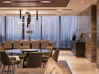 Modern dining room by Concepto Taller de Arquitectura Modern