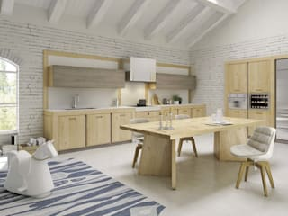 Mobili a Colori Modern style kitchen Solid Wood Wood effect