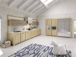 Mobili a Colori Built-in kitchens Solid Wood Wood effect