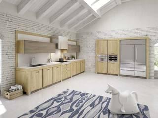 Cucina moderna in rovere massello di Mobili a Colori Moderno