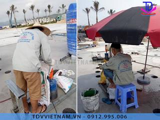 Thi công sàn phun nước theo nhạc tại KĐT Phương Đông, Vân Đồn, Quảng Ninh bởi Công ty Đài phun nước TDV Việt Nam Hiện đại