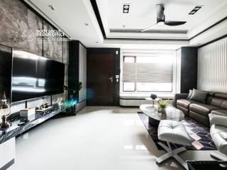 Salones de estilo moderno de 築本國際設計有限公司 Moderno
