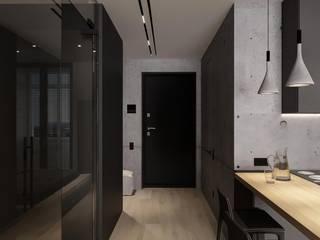 GRON Коридор, прихожая и лестница в стиле лофт от АРТ УГОЛ Студия архитектуры и дизайна Лофт