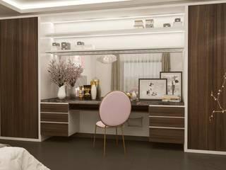 SUDI ARABISTAN BUYUKELCISI SAHSI KONUT Modern Yatak Odası ARTERA İÇ MİMARLIK VE MİMARLIK Modern