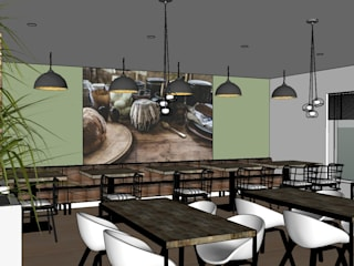 ontwerp lunchroom van Studio Riho