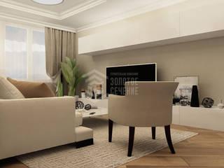 Наше портфолио Гостиная в стиле модерн от СК Золотое Сечение Модерн