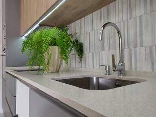 C evolutio Lda Moderne Küchen Holz Grau