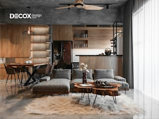 Industrial style living room by Công ty cổ phần nội thất DECOX Industrial