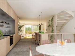 Scandinavian style dining room by Bergblick interieurarchitectuur Scandinavian