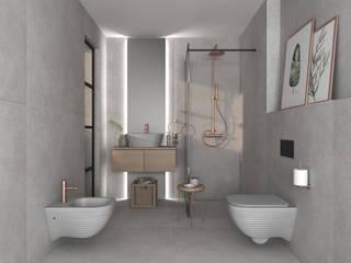 Smile Bath S.A. Baños de estilo moderno Cerámico Gris
