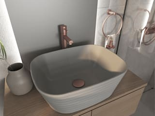 Smile Bath S.A. Modern bathroom Ceramic Grey