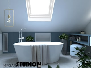 Modern bathroom by MIKOŁAJSKAstudio Modern