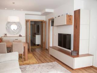 Rentería Salones de estilo escandinavo de MUEBLES DG Escandinavo