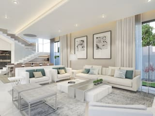 Eclectic style living room by Dessiner Interior Architectural Eclectic