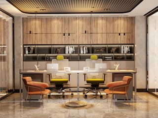 TEKSTİL FİRMASI YÖNETİM OFİSİ Modern Çalışma Odası Entrada Mimarlık Modern