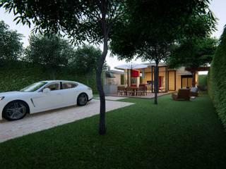 Nhà để xe/nhà kho phong cách hiện đại bởi Lozí - Projeto e Obra Hiện đại
