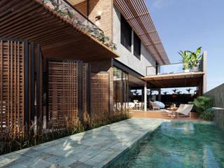 Industrial style pool by Lozí - Projeto e Obra Industrial