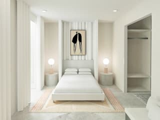 Conceptual Bedroom, Bathroom and Roof Terrace Classic style bedroom by Amarand Design Classic