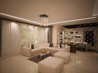 TVH PURASAIVAKKAM PROJECT JAIHO INTERIORS - RESIDENCE & COMMERCIAL INTERIORS Minimalist living room
