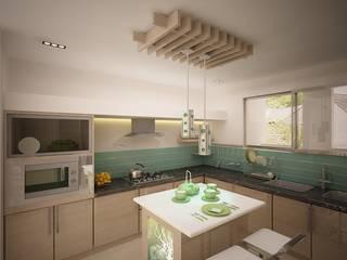TVH PURASAIVAKKAM PROJECT JAIHO INTERIORS - RESIDENCE & COMMERCIAL INTERIORS Minimalist kitchen