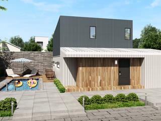 현대적이며 심플한 분위기의 모던 전원주택 by 공간제작소(주) 모던