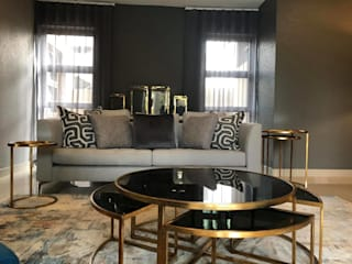 Bedfordview: Monte D' Oro Villa: Shortlisted for the International Design & Architecture Awards 2020 CKW Lifestyle Associates PTY Ltd Modern living room