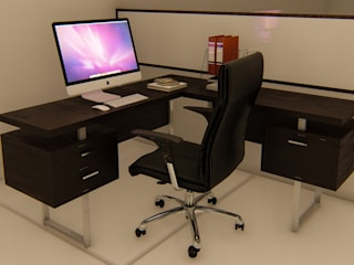 Office WorkStation 2: modern  by Mystique Spaces,Modern