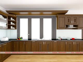 Tủ bếp màu nâu và những ưu điểm tạo nên sự khác biệt? bởi Nội thất Nguyễn Kim
