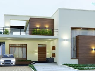Residence In Nagercoil by Bristan Architects & Interior Designers Minimalist