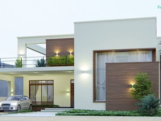 Residence In Nagercoil Minimalist houses by Bristan Architects & Interior Designers Minimalist