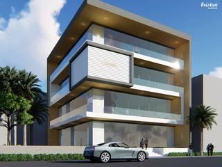 Proposed commercial Complex @Vazhuthaikadu, Opp. Cotton hill School, Trivandrum by Bristan Architects & Interior Designers Minimalist