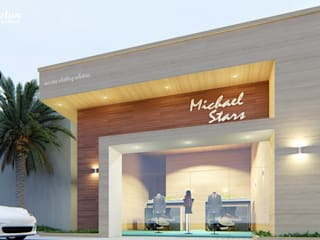 Proposed Elevation for Retail Showroom by Bristan Architects & Interior Designers Minimalist