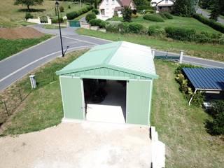 Abri métallique en kit Direct-batiment Abri de jardin Métal Vert