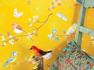 トロピカルスタイルな 壁&床 の Carta da parati degli anni 70 トロピカル