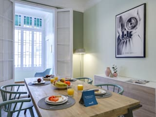 CREAPROJECTS. Interior design. Scandinavian style dining room
