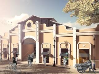 Centros comerciales de estilo tropical de Oleb Arquitectura & Interiorismo Tropical