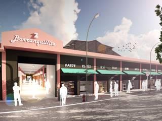 Espacios comerciales de estilo tropical de Oleb Arquitectura & Interiorismo Tropical