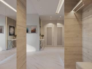 Minimalist corridor, hallway & stairs by Дизайн-бюро 'ДА!' Minimalist