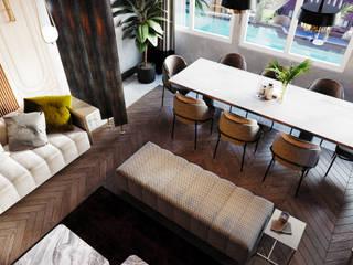 SİNPAŞ GYO - BOSPHORUS CITY Eklektik Oturma Odası Entrada Mimarlık Eklektik