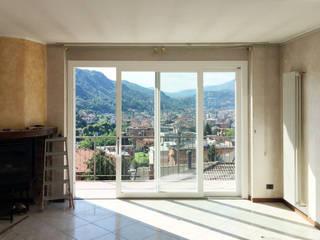Sostituzione serramenti in appartamento panoramico a Como Finextra Finestre in PVC Bianco