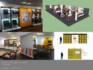 Shop in shop interieurontwerp Moderne kantoor- & winkelruimten van THIES Design Modern