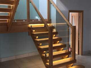 Open Tread Oak Staircase by Boss Stairs Limited Modern
