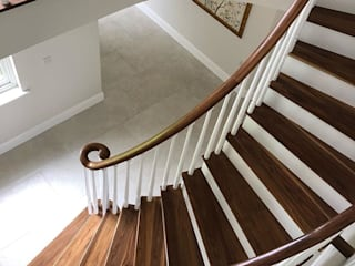 Helical Staircase in Walnut by Boss Stairs Limited Classic