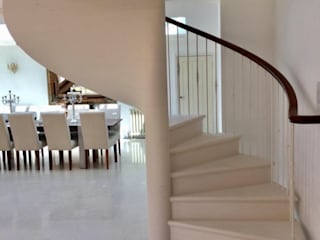 Spiral Staircase in Stone by Boss Stairs Limited Classic