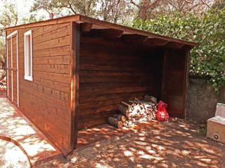 Construcción de casetas de madera en Madrid de Construcción de casetas de Madera en Madrid Rústico